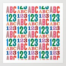 ABC 123 Art Print