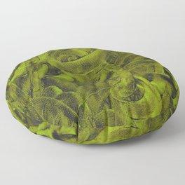 Pellucidar Sap Green Abstract Floor Pillow
