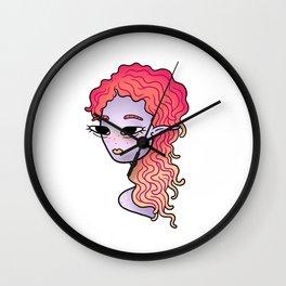 alien head illustration Wall Clock