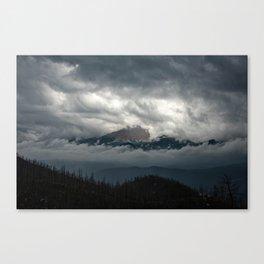 Pikes Peak Sneak Peek Canvas Print