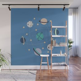 space planets and stars Wall Mural
