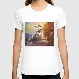 Owl In The Widlerness By Annie Zeno T-shirt