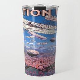 Vintage poster - Aviation Meet Travel Mug