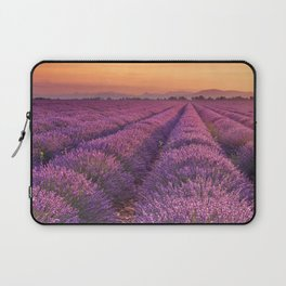 I - Sunrise over blooming fields of lavender in the Provence, France Laptop Sleeve