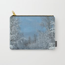 Snow Covered Road Carry-All Pouch
