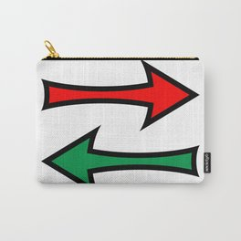 Left And Right Direction Arrows Carry-All Pouch