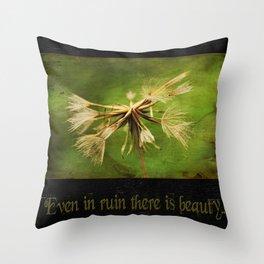Dandelion ~ Beauty in Ruin ~ Ginkelmier Inspired Throw Pillow