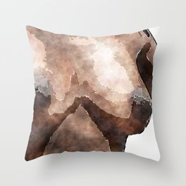 African American Nud Throw Pillow