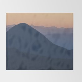 Silhouettes at Sunset, No. 2 Throw Blanket