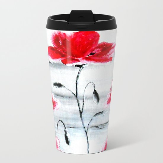 Waiting for Spring Metal Travel Mug