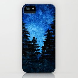 Blue Sky - Evergreen Trees iPhone Case