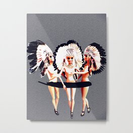 TRIBE BARBIE Metal Print