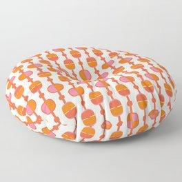 Mid Century Retro Dots Floor Pillow