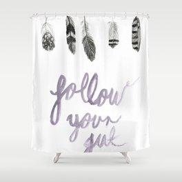 Follow Your Gut Shower Curtain