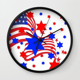 PATRIOTIC JULY 4TH AMERICAN FLAG ART Wall Clock