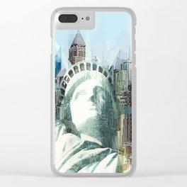 New York - vektor Clear iPhone Case