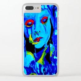Blue Moon #society6 #decor #buyart Clear iPhone Case