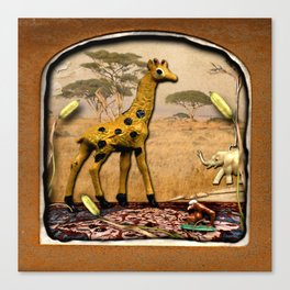 The Deserted Toyshop: Serengeti Landscape 1, No Tail Canvas Print