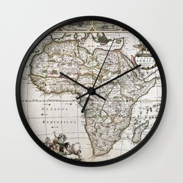 Vintage Africa map Wall Clock