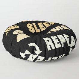 Eat Sleep Anime Repeat Floor Pillow