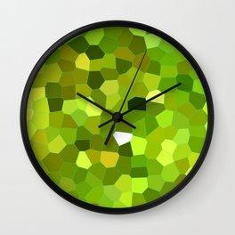 Lemon Cake Mosaic Pattern Wall Clock