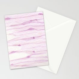 Pastel pink watercolor hand painted brushstrokes pattern Stationery Cards