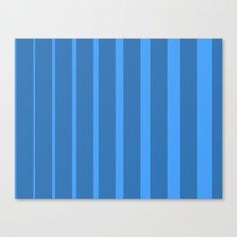 Blue Blinds III - Blue Abstract Art Canvas Print