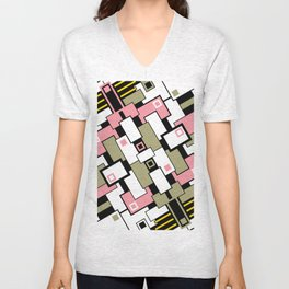 C13D GeoAbstract 2 Unisex V-Neck