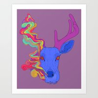 lsd Art Prints featuring LSD by DeadStag