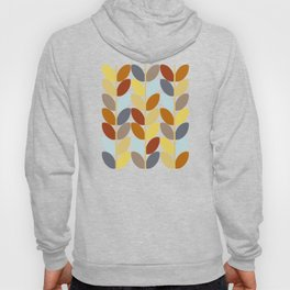 Retro 70s Color Palette Leaf Pattern Hoody