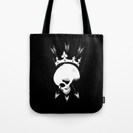 Pierced Crowned Skull Tote Bag
