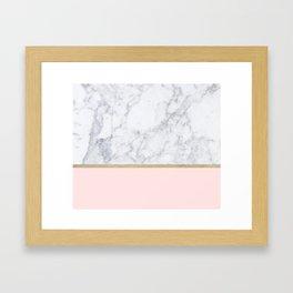 Marble Gold Blush Pink Pattern Framed Art Print