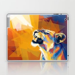 In the Sunlight - Lion portrait, animal digital art Laptop & iPad Skin