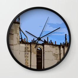 Paris Roofs Wall Clock