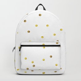 Gold Confetti on White Background Backpack