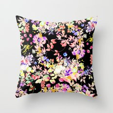 Soft Bunnies black Throw Pillow