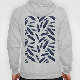 Watercolor pattern with navi feathers Hoody