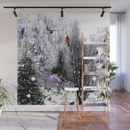 The Birds Of Winter Wall Mural