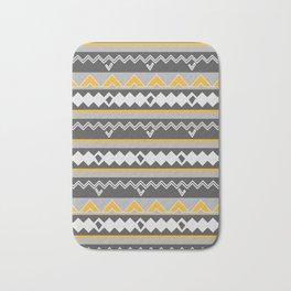 Gray stripes and native shapes Bath Mat