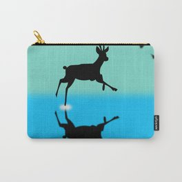 Deer in the water Carry-All Pouch