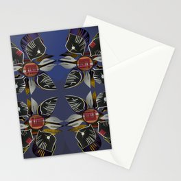 Modern Decoupage- Black and White Paper Flowers  Stationery Cards