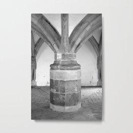 Church pillars St.Aegidienkirche Oschatz Metal Print