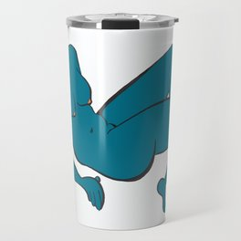 Reclining Blue Nude Travel Mug