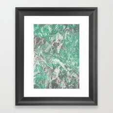 Green Grey Marble Framed Art Print