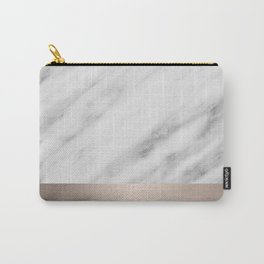 Carrara Italian Marble Holiday White Gold Edition Carry-All Pouch