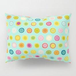 circle spot mint Pillow Sham