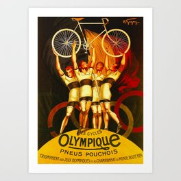 Vintage Olympique Bicycle Ad Art Print