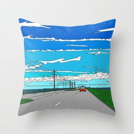 Road to Cape Canaveral Throw Pillow