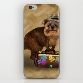 Traveller // quokka iPhone Skin