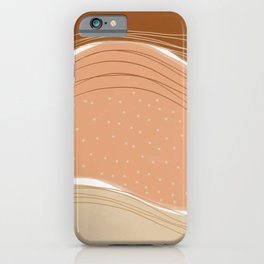 Earth pastel abstract iPhone Case